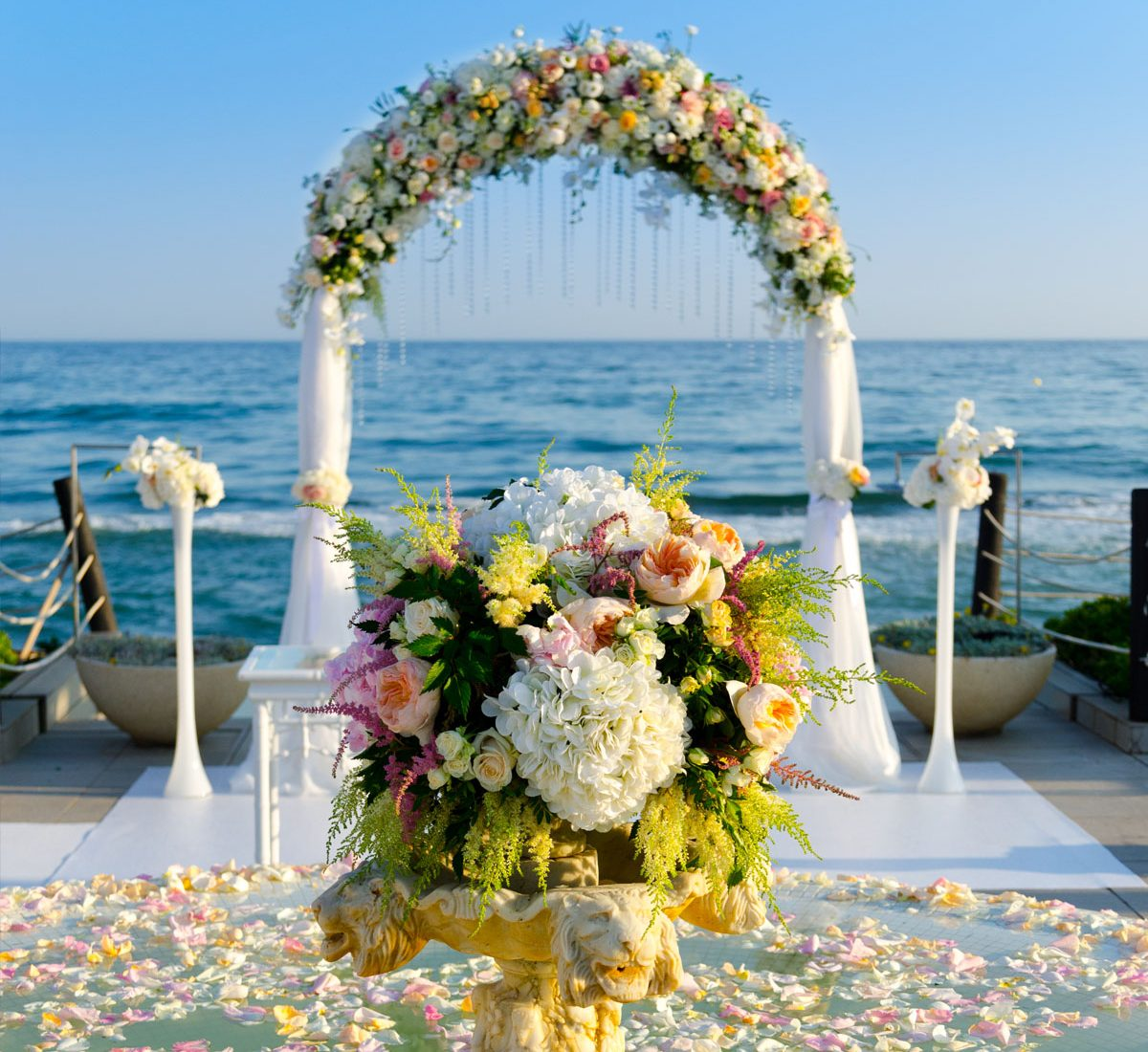 decoración floral para bodas en la playa - Floral decoration for beach weddings